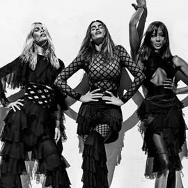 Cindy, Naomi e Claudia: le eterne bellezze di Balmain Spring/Summer 2016